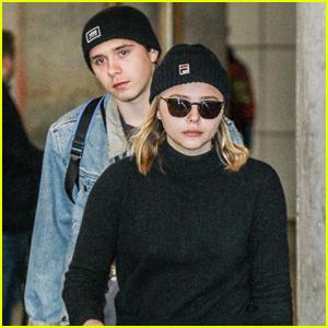 Chloe Moretz & Brooklyn Beckham Head Back to NYC After Camping Trip