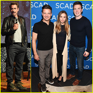 Chris Evans & Robert Downey Jr. Host Special Screening 'Wind River' Screening for Jeremy Renner & Elizabeth Olsen!