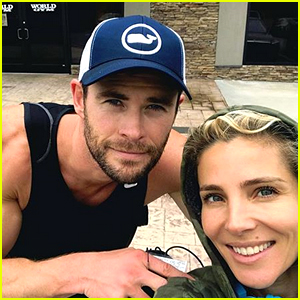 Chris Hemsworth Shows Off His Massive Biceps in Selfie with Wife Elsa!