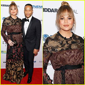 Chrissy Teigen Debuts Baby Bump at American Ingenuity Awards Gala Red Carpet!