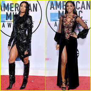 Ciara & Kelly Rowland Show Off Some Leg at American Music Awards 2017