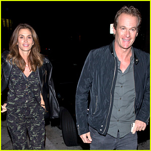 Cindy Crawford Goes Camo for Date Night with Rande Gerber
