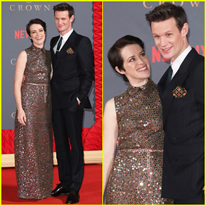 Claire Foy & Matt Smith Reunite in London for 'The Crown' Season Two World Premiere!