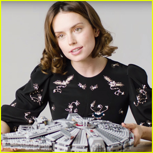 Daisy Ridley Tests Her Lego Skills While Getting Grilled About 'The Force Awakens' - Watch Now!