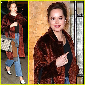 Dakota Johnson Is All Smiles After a Busy Big Apple Day!