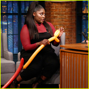 Danielle Brooks Shows Off Her Balloon Animal Making Skills on 'Late Night'!