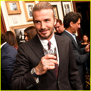 David Beckham Hangs Out with Son Brooklyn During NYC Trip