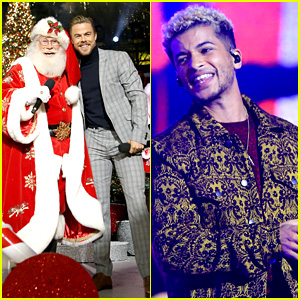 Derek Hough & Jordan Fisher Celebrate Christmas Early at The Grove!