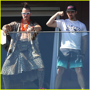 Joe Jonas & DNCE Hilariously Pose For Photographers in Rio
