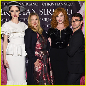 Drew Barrymore & Christina Hendricks Help Christian Siriano Celebrate 'Dresses To Dream About' Book Launch!
