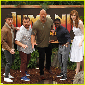 Dwayne Johnson & Nick Jonas Promote 'Jumanji: Welcome to the Jungle' in Hawaii!