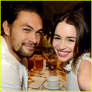 Game of Thrones' Emilia Clarke & Jason Momoa Reunite!
