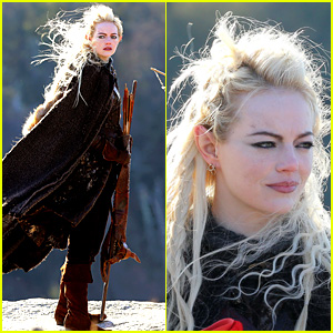 Emma Stone Is Basically the Female Legolas in These 'Maniac' Set Photos