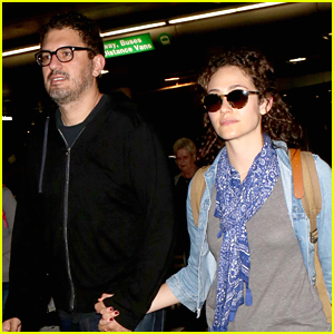 Emmy Rossum & Husband Sam Esmail Return Home from Thanksgiving Getaway