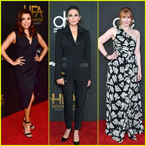 Eva Longoria, Elizabeth Olsen & Bryce Dallas Howard Get Glam at the Hollywood Film Awards 2017!