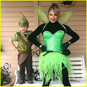 fergie her son axl dress as peter pan characters for halloween photo