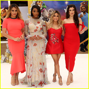 Fifth Harmony Get Festive on the Red Carpet at 'The Star' Premiere!