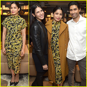 Freida Pinto Hosts Special 'Ladies First' Screening in NYC!