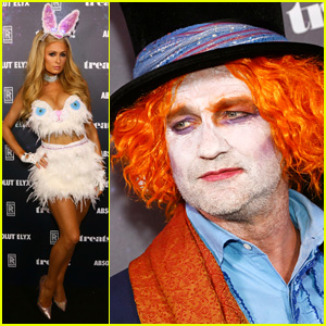 Gerard Butler Dresses as Mad Hatter for Halloween!