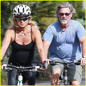 Goldie Hawn & Kurt Russell Couple Up For a Morning Bike Ride!