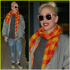 Gwen Stefani Makes a Stylish Arrival in London