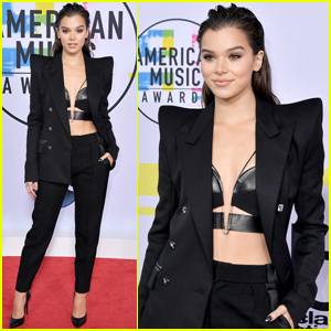 Hailee Steinfeld Suits Up Ahead of AMAs 2017 Performance!