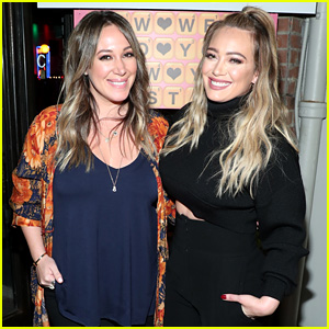 Hilary & Haylie Duff Get In Sisterly Bonding Time at Words with Friends 2 Launch