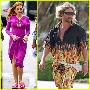 Isla Fisher & Matthew McConaughey Get Into Character on 'Beach Bum' Set