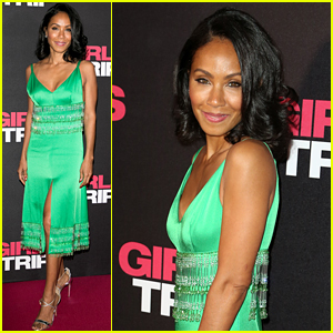 Jada Pinkett Smith Stuns in Silky Green Gown at 'Girls Trip' Paris Premiere