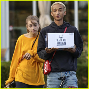 Jaden Smith & Girlfriend Odessa Adlon Get Goofy for the Paparazzi!
