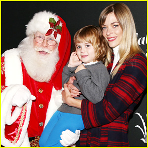 Jaime King & Family Meet Santa at The Grove's Christmas Tree Lighting
