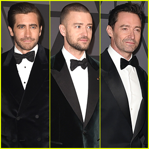 Jake Gyllenhaal, Justin Timberlake, & Hugh Jackman Don Tuxes for Governors Awards 2017