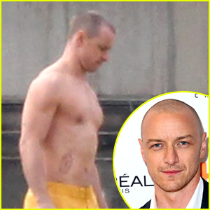 James McAvoy Goes Shirtless on Set of 'Glass,' Sequel to 'Split'