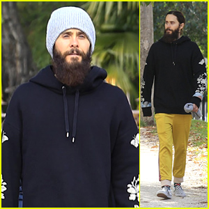 Jared Leto Goes for a Relaxing Solo Stroll in Spain!