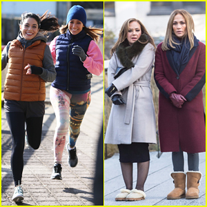 Jennifer Lopez Gets Back to Work on 'Second Act' with Vanessa Hudgens & Leah Remini!