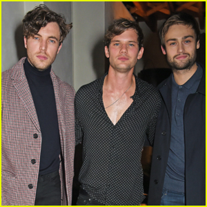 Jeremy Irvine & Douglas Booth Celebrate 'Mr. Porter' Label Launch!