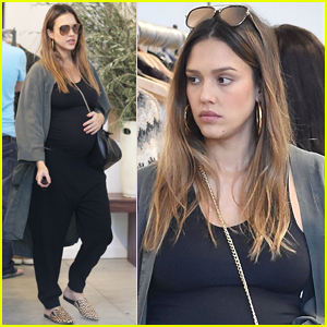 Jessica Alba Shows Of Her Major Baby Bump While Shopping!