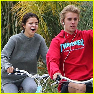 Selena Gomez Looks So Happy on Bike Ride with Justin Bieber!