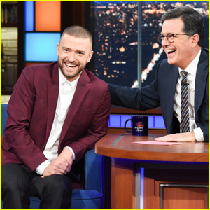 Justin Timberlake Sings 'Star-Spangled Banner' & Talks Super Bowl with Stephen Colbert!