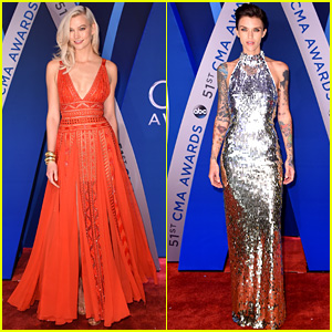 Karlie Kloss & Ruby Rose Stun at CMA Awards 2017