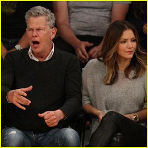 Katharine McPhee & David Foster Sit Courtside at Lakers Game!
