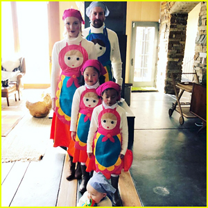 Katherine Heigl, Josh Kelley & Their Children Channel Russian Nesting Doll for Halloween!