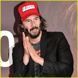 Keanu Reeves Attends a Motorcycle Show in Italy