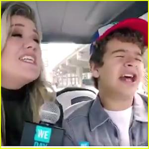 Kelly Clarkson & Gaten Matarazzo Sing WE Day Duet - Watch Now!