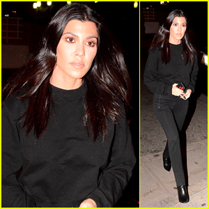 Kourtney Kardashian Wears an All Black Outfit While Heading to Church!