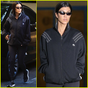 Kourtney Kardashian Keeps Her Short Hair Covered Up!
