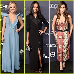 Kristen Bell, Zoe Saldana, & Rachel Bilson Are Beautiful Mamas at Baby2Baby Gala