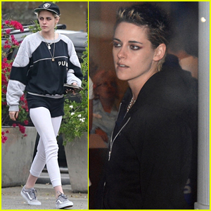 Kristen Stewart Spends Halloween at Dodgers vs. Astros World Series Game