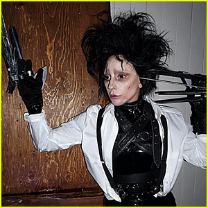 Lady Gaga's Halloween Costume Is a Spot On Edward Scissorhands