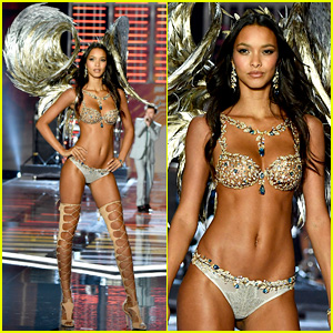 c0f0a06df6 Lais Ribeiro Models Fantasy Bra at Victoria s Secret Fashion Show 2017